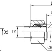Соединение резьбовое XGR серия L 315 бар D1 12 D2 10 фото