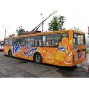 Реклама на транспорте Одесса фото