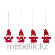 Украшение подвесное, Санта Клаус красный ВИНТЕР фото