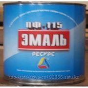 """Эмаль ПФ-115 чёрная """"Ресурс"""" фото"""
