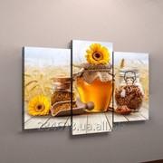 Фотокартина модульная для кухни мед фото