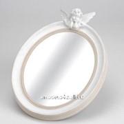 Овальное зеркало с ангелом фото