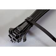 Стяжки кабельные с металлическим зубом КСЗ повышенной прочности для наружного монтажа, морозоустойчивые, черного цвета фото