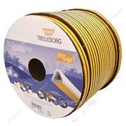 Уплотнитель Trelleborg самоклеющийся D-профиль 100m коричневый 9х7, 5 №710517 фото