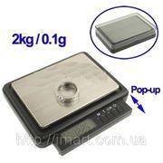Весы портативные 1кг/0.05г 2кг/0.1г фото