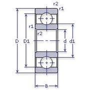 Подшипник шариковый радиальный однорядный 5-1000816Б фото