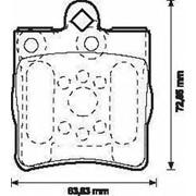 Тормозная колодка Jurid 571925J фото