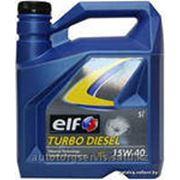 Моторное масло ELF TURBO DIESEL 15W40 5L фото