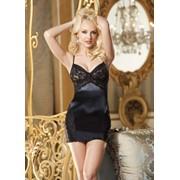 Сексуальное облегающее платьице с кружевным лифом S-3235 фото