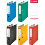 Папка-регистратор Esselte А4 Rainbow, 50мм 7шт ассорти + Этикетки 50 мм 10 шт фото