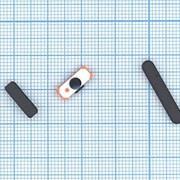 Комплект боковых кнопок для Apple IPad 2 черный фото