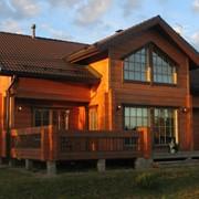 Деревянные дома из сухого профилированного бруса. фото