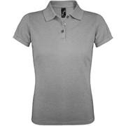 Рубашка поло женская PRIME WOMEN 200 серый меланж, размер M фото