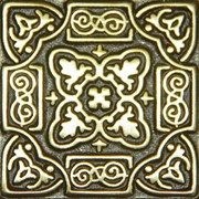 Бронзовая декоративная вставка Persia (5x5) фото