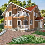 Проект 34, 243,6кв.м Дом из профилированного бруса камерной сушки фото