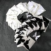 Бабочки бумажные на магните 6-12 см 12 шт 7441 фото