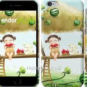 Чехол на iPhone 6 Девочка с арбузом 2957c-45 фото