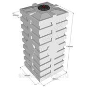 Емкость кубическая для топлива вертикальная Quadro-H1000 с размерами фото