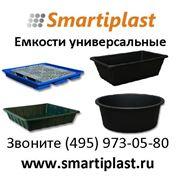 Пластиковые емкости круглые и прямоугольные для пищевых и технических целей фото