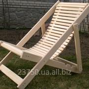 Шезлонг деревянный фото