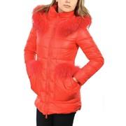 Куртка пуховик красный Арт.21608V фото