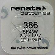 Батарейка Renata R386 (SR43W) фото