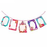 Набор фоторамок -- с прищепками на веревке Принцесса 5рамок+5прищепок, веревка фото