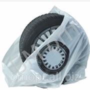 Мешки для хранение колёс белые, вторсырье 30мик, пачка 100 шт. 110х110см (БМопт) фото