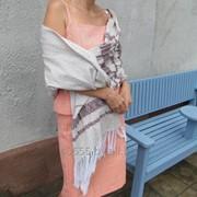 Палантин ручного ткачества фото