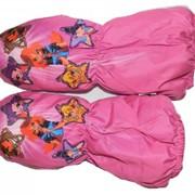 Варежки малиновые с феями Винкс фото