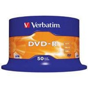 Диск DVD-R Verbatim 4.7Gb 16X CakeBox 50шт (43548) фото