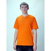 Футболка мужская оранжевая фото