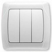 Выключатель 3-клавишный VI-KO CARMEN белый фото