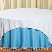 Скатерть круглая для круглого стола аренда, прокат круглой скатерти для круглого стола, скатерть аренда, аренда прокат скатертей фото