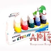 Краски по стеклу Tinta viva, 6 цв (фл) фото