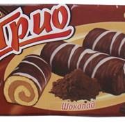 Мини-рулеты бисквитные Трио со вкусом шоколада фото