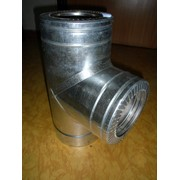 Тройник с теплоизоляцией: 87 н / оц, 0,5 мм, диаметр (ф110 / 180) фото