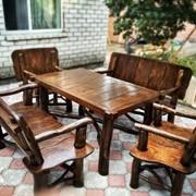 Садовая мебель, комплект: стол, 2 скамьи, 2 кресла фото
