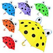 Зонтик детский с ушками MK 0211, 6 цветов, 45см фото