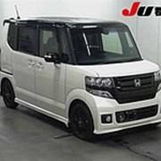 Микровэн HONDA N BOX кузов JF1 класса минивэн модификация Custom G L гв 2015 пробег 27 т.км жемчужный черный фото
