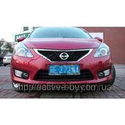 Штатные дневные ходовые огни DRL Nissan Tiida new 2012+ фото