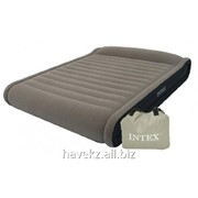 Двухспальный надувной матрас Intex 67726 - 203х152х48см, серый фото