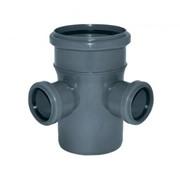 Крестовина двухплоскостная ПП для внутренней канализации 90гр 110х110х110 фото