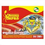 Оригинальный дизайн упаковки и разработка фирменного персонажа и логотипа для продукции КРАБОВЫЕ ПАЛОЧКИ фото