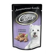 Корм для собак CESAR с ягненком и овощами, 100г фото