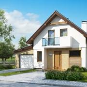 Проект дома с гаражом 7-017 фото