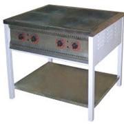Плита промышленная электрическая ПЕ-4 эконом с энергосберегающими конфорками без жарочного шкафа фото