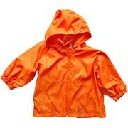 Оранжевая ветровка с капюшоном фото