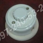 Керамический выключатель для наружной проводки фото