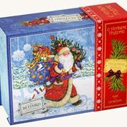 """Подарочный набор чая BETFORD """"Новогодний подарок"""" ( 100 гр черный чай ОРА + игрушка) фото"""